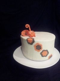 Practicing all buttercream finish. Polka dot fantasy flowers and