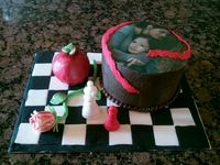Twilight Saga Cake-made for a weekend with my daughter and granddaughter to celebrate the final movie.