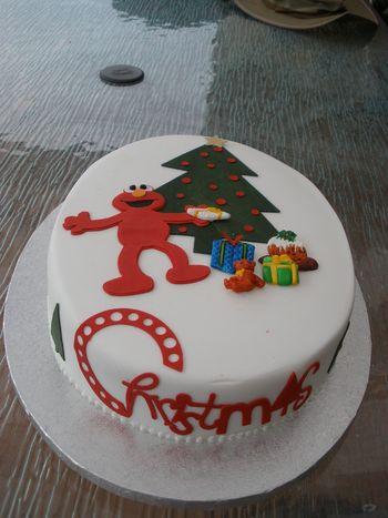 Christmas Cricut cake
