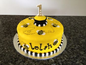 Lolah's 1st Birthday This is my favourite cake to date! Gluten free chocolate with raspberry frosting inside.