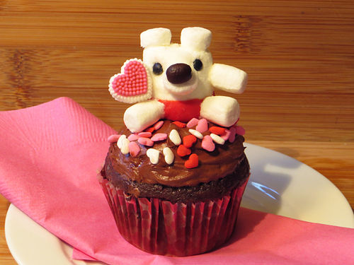 This little bear makes a great Valentine's Day craft for kids, a small gift, or a cupcake topper. I made a video tutorial on how to make this mini marshmallow bear!  Please see my profile for relevant links. You'll find a list of ingredients is under the video.   SparkedIdeas