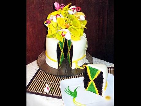 customer wants inside of cake to look like jamaican flag help. Black Bedroom Furniture Sets. Home Design Ideas