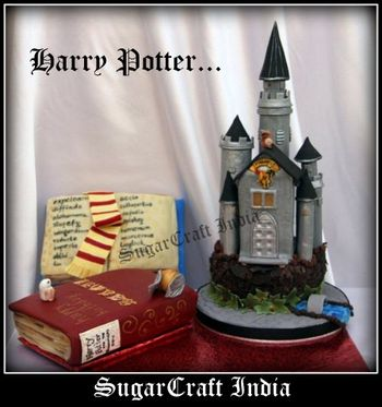 Harry Potter Castle Cake for boys... Pl visit my page and LIKE it... Thanks in advance http://www.facebook.com/pages/Sugarcraft-India/137037449697348
