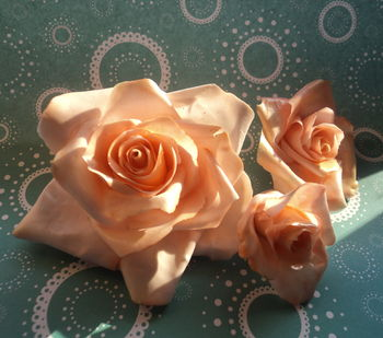 My favorite way to make roses.  No tools needed.  I find that I get a much thinner petal this way.