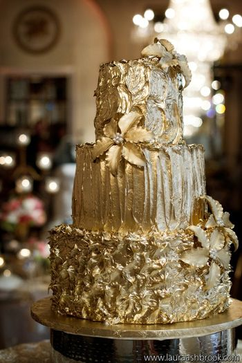 Gold Icing! - CakeCentral com
