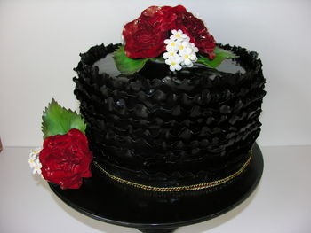Made this cake after watching Maggie Austin's Craftsy class on ombre frills and cabbage roses.