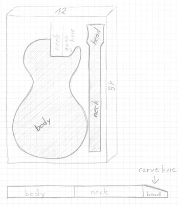 Guitar cake servings from 9x13 or 11x15 for Guitar templates for cakes