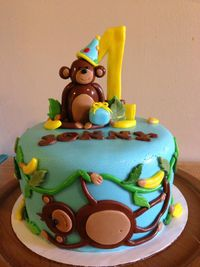 Monkey first birthday
