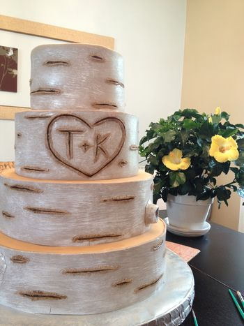 tree bark wedding cake stand birch bark tree tutorial cakecentral 21249