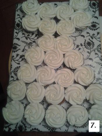 Wedding Dress Cupcake Pull Apart