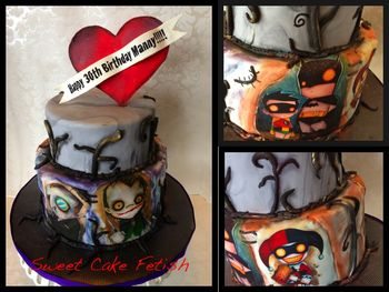 Tattoo Cake Inspired by the Christopher Uminga Art work