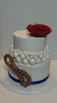 Modeling chocolate rope, pearls and gumpaste flower