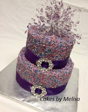 Jewel tone sprinkle cake