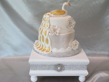 This is a dummy cake. I am practicing in hopes of one day making wedding cakes.