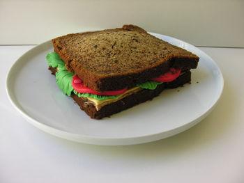 Sandwich cake for a salad sandwich addict's birthday.