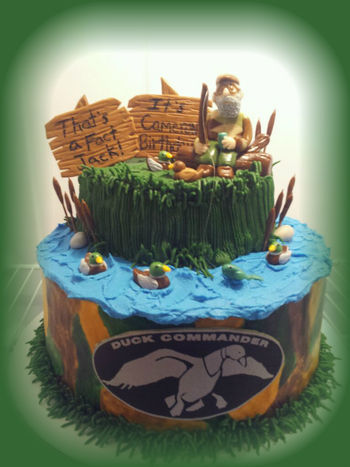 Duck Dynasty Si Robertson Cake