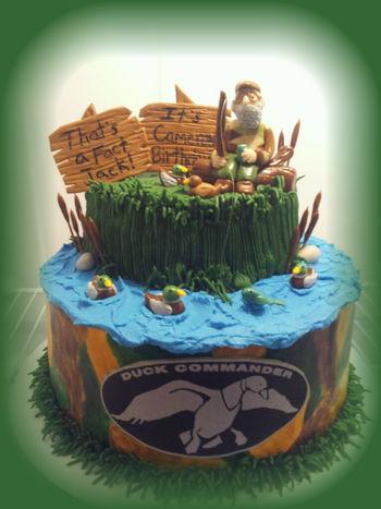 Duck Dynasty Si Robertson Cake