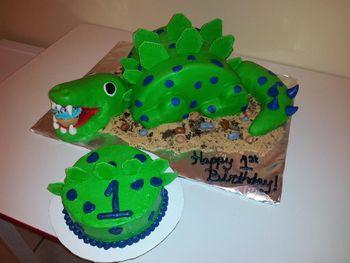 * Dinosaur Cake