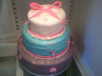 1st cake decorating endeavor for my daughters 13th birthday