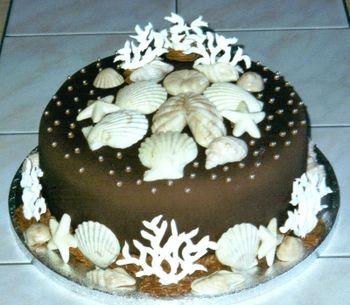 Chocolate fondant, candy shells, RI coral