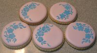 roll out sugar cookies, Royal Icing with Royal Icing stenciling