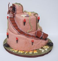7th birthday Indiana Jones themed cake