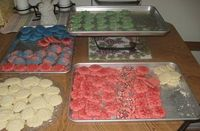 COLORED SPRITZ CHRISTMAS COOKIES