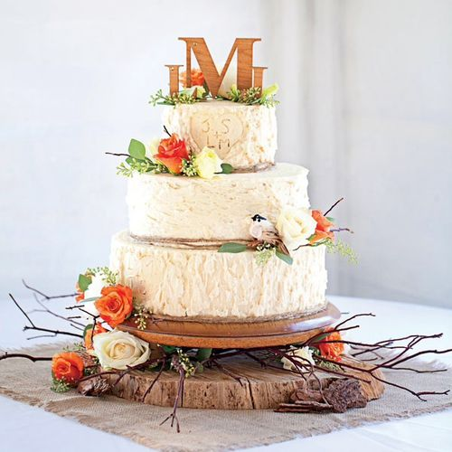 Tree Bark Wedding Cake - How To Make The Bark Textured Buttercream ...