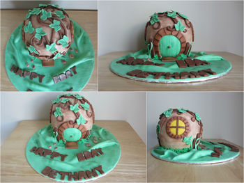 The Hobbit house birthday cake for a client.