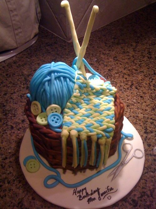 She Loves Crochet I Am Planning To Make A Themed Cake Looked At Many Cakes But Cant Get Clear Idea The Part On