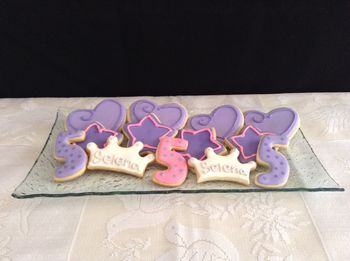 Princess Sophia themed sugar cookies