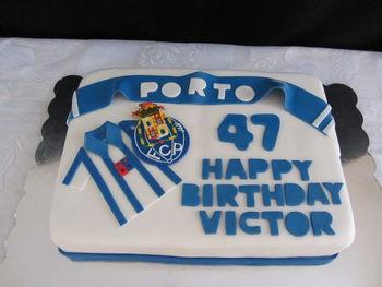 Portuguese soccer team (FCP Porto) birthday cake