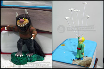 Three great huge children books for a great child. Made with gumpaste and modelling chocolate.
