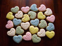 NFSC assorted sized Hearts, MMF embossed