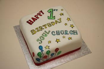 Painted using gel colours, chocolate fudge cake inside.