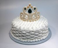 Swiss Meringue Buttercream basketweave  Marvelous Molds Crown mold