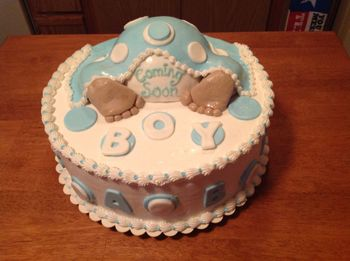 Baby shower cake. First one I've ever made like this.