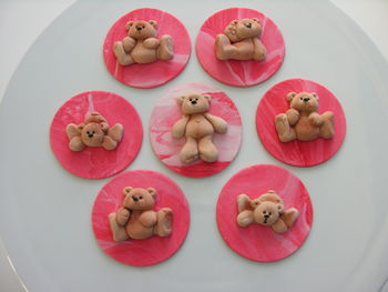 Teddy cupcake toppers