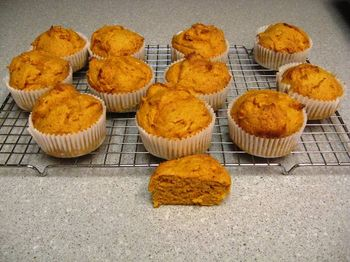 pumpkin, cake mix muffins