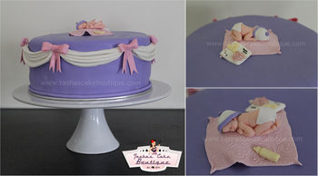 Elegant baby shower cake  https://www.facebook.com/TashasCakeBoutique