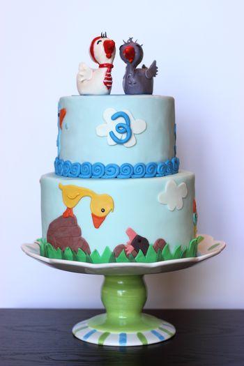 Gossie and Gertie - the children's book cake