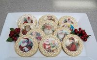 Christmas cookies, wafer paper santas, RI piped lace