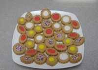 cream cheese butter cookies with sanding sugar, non-pariels,