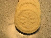shortbread cookies made with springerle molds