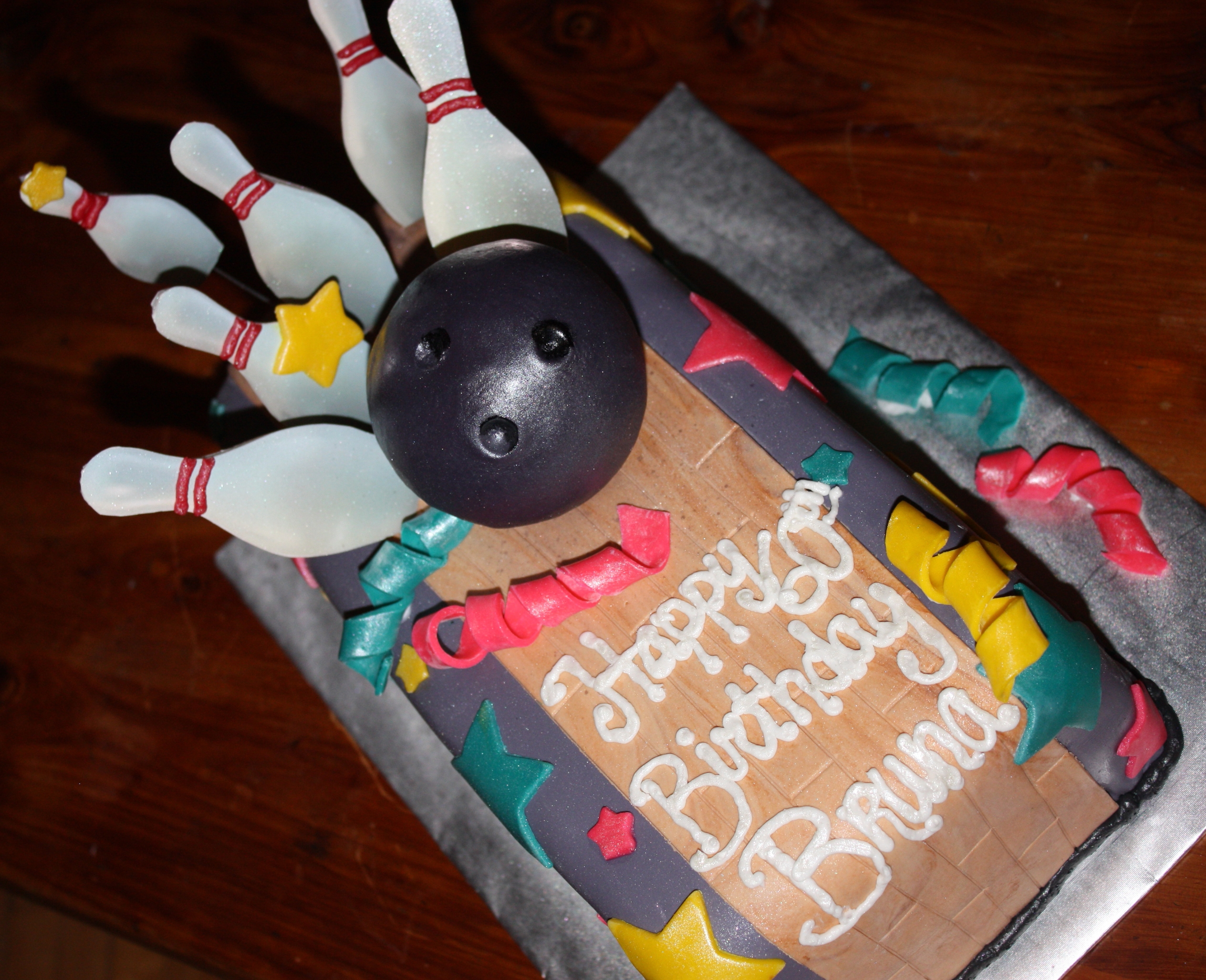 Bowling Lane Birthday Cake. Join me at facebook.com/creamcakery!