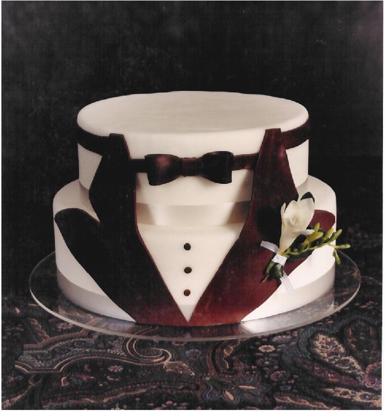 Tuxedo Groom 39 S Cake But Not Fondant