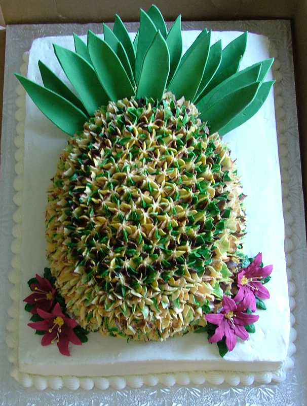 Pineapple Shaped Cake Cakecentral Com