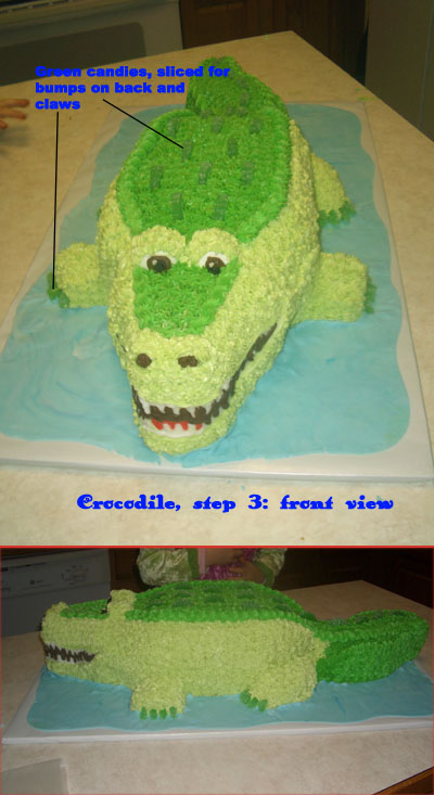 Making A Crocodile Cake How To Cakecentral