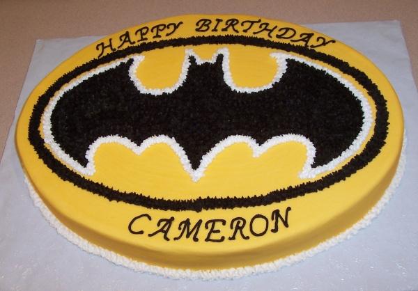 Batman cake for Batman logo cake template