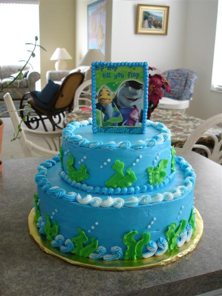 shark birthday cake shark tale birthday what a mess cakecentral 7317